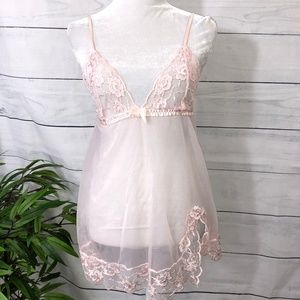 Frederick's of Hollywood  Pink Lace Teddy - S